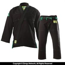 Inverted Gear Gold Weave Panda Black Jiu Jitsu Gi